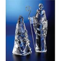 Pack of 2 Icy Crystal Religious Holy Family Christmas Nativity Figurines 12""