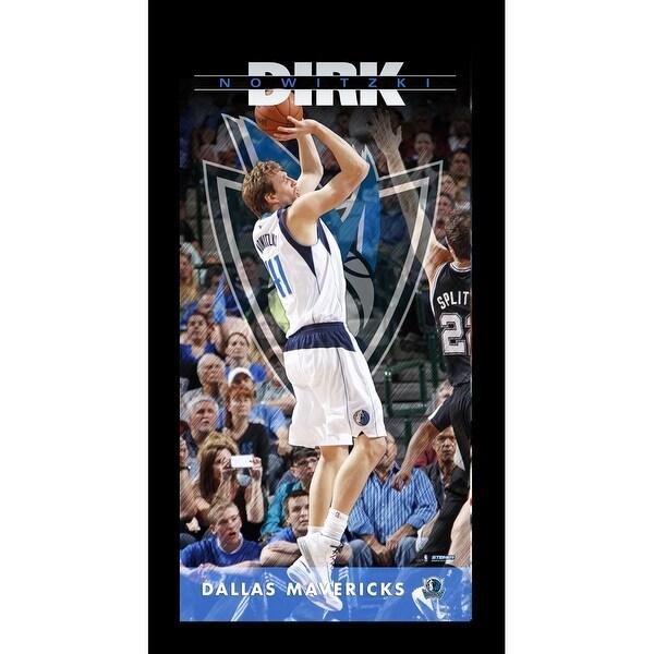 Dirk Nowitzki Dallas Mavericks Player Profile Wall Art 95x19 Framed ...
