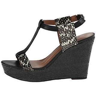 Lucky Women's Lovell T-Strap Platform Wedge Sandals