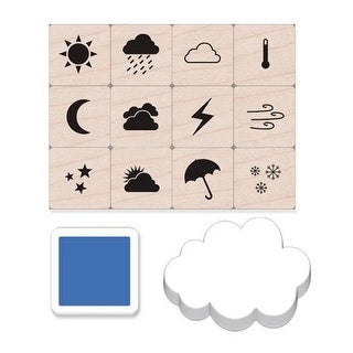 Weather Icons Stamps Mini Tub, Set of 12 - One Size