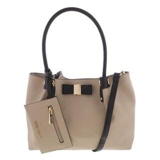 Kathy Ireland Womens Shoulder Handbag Faux Leather Bow - Medium