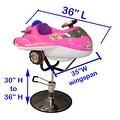 LCL Beauty Kid's Pink Airplane Hydraulic Salon Chair - Thumbnail 6