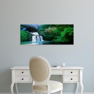 Easy Art Prints Panoramic Images's 'Waterfall in a forest, Lison River, Jura, France' Premium Canvas Art