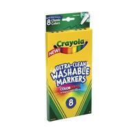 Crayola 008538 Marker Crayola Washable Fine Classic Set Of 8