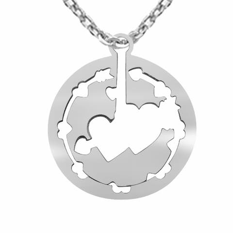 Bueatiful Designer Sterling Silver Chain Pendant by Orchid Jewelry - White