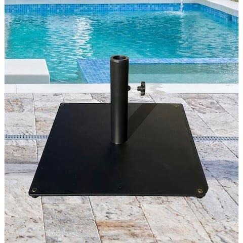 TropiShade 36 lb Black Square Steel Plate Umbrella Base