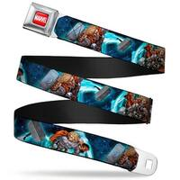 Marvel Universe Marvel Full Color Red White Thor In Action Hammer Blue Seatbelt Belt