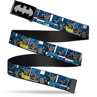 Batman Reverse Brushed Silver Cam Batman Action Blocks Webbing Web Belt
