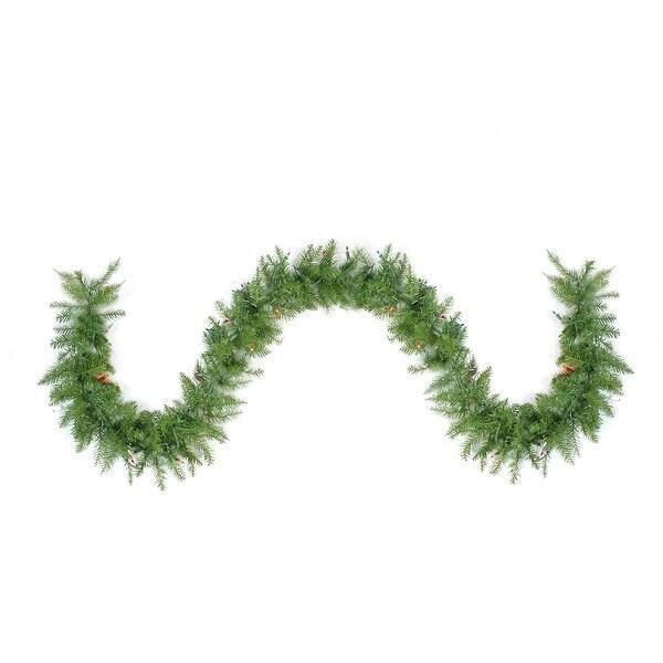 "9' x 10"" Pre-Lit Northern Pine Artificial Christmas Garland - Multi-Color Lights"
