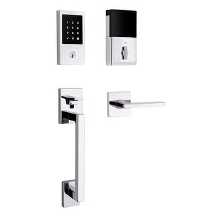 Baldwin 85393.ZWRENT  Touchscreen Minneapolis Z-Wave Right Handed Electronic Keyless Entry Handleset with Lakeshore Lever