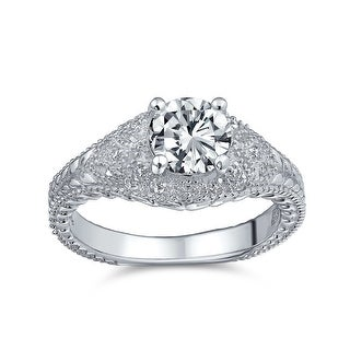 Link to Solitaire Crown Mount Filigree CZ Engagement Ring 925 Sterling Silver Similar Items in Rings