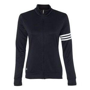 Golf Women's ClimaLite 3-Stripes French Terry Full-Zip Jacket - Black/ White - L