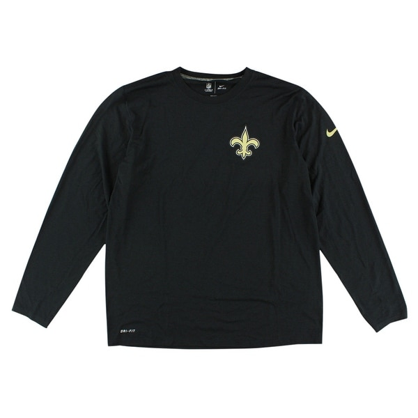 Shop Nike Mens New Orleans Saints NFL Legend Long Sleeve Practice Shirt  Black - s - Free Shipping On Orders Over  45 - Overstock.com - 22614214 8e1f43c67