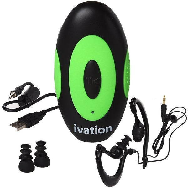 4GB Waterproof MP3 Player & Earphones with Built-In Support Clip - IPX8 Fully Submersible
