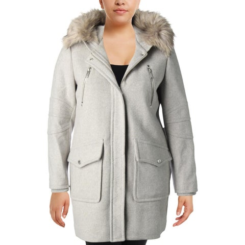 BCBGeneration Womens Duffle Coat Winter Water Resistant