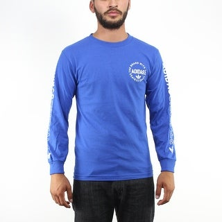 Adidas The Brand With The Three Stripes Men's Blue T-shirt