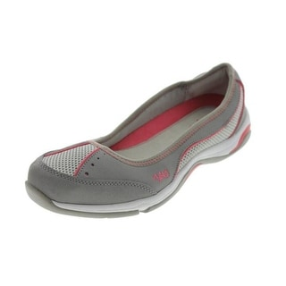 Ryka Womens Tensile Leather Workout Ballet Flats