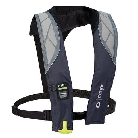 Onyx a-24 in-sight automatic inflatable life jacket grey