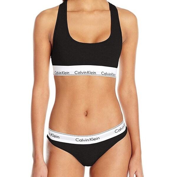16404eaed3ca8 Shop Calvin Klein Black White Printed Women Small S Bikini Two-Piece ...