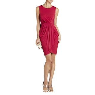 BCBGMAXAZRIA Kaia Sleeveless Pleated Front Dress Turkish Red Medium