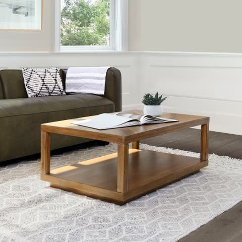 Abbyson Chevron Wood Coffee Table