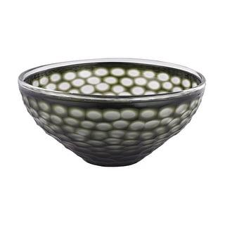 """GuildMaster 4154-042  Gogli 14"""" Wide Blown Glass Decorative Bowl - Brown"""