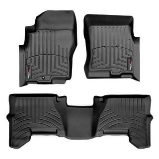 WeatherTech Nissan Pathfinder/Xterra 2005-2011 1-Post Black Front & Rear Floor Mats FloorLiner 44033-1-2