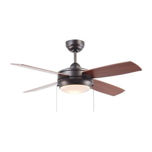 "Ellington Fans Laval-44 Modern 44"" 4 Blade Indoor Ceiling Fan - Blades and Light Kit Included"