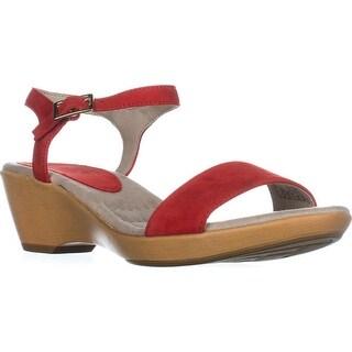 Corkys Ribbon Women Open Toe Canvas White Wedge Sandal 10  X9NAOWN9L