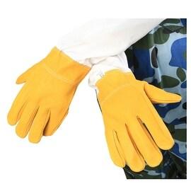 Yellow Anti-bee Gloves Thick Sheepskin Beekeeping Equipment