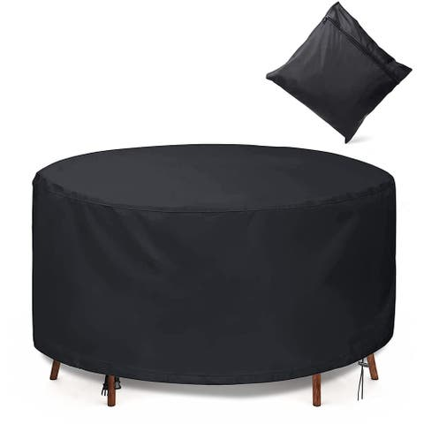 Round Patio Table Covers, Patio Furniture Set Covers Garden Table Chairs Set Covers
