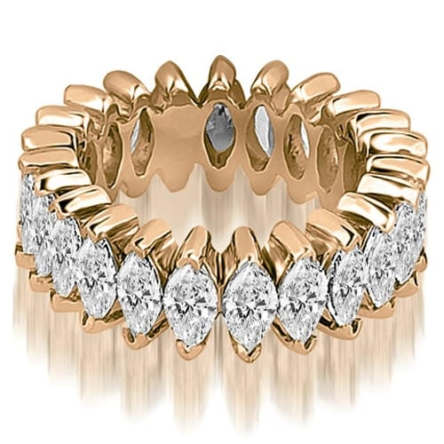 5.75 cttw. 14K Rose Gold Marquise Diamond Eternity Ring