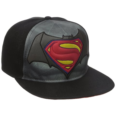 6d25493842a40 Batman vs Superman Dawn of Justice Flat Brim Baseball Cap