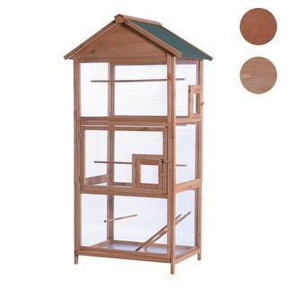 """Lovupet 70"""" Wood Bird Cage Play House Parrot Finch Cockatoo Macaw Aviary Pet Supply 0011"""