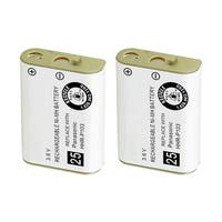 Replacement Battery For Panasonic P103 - Fits KX-TD7896, KX-TGA230B, KX-TD7680, KX-TG2352, TYPE 25 - 2 Pack