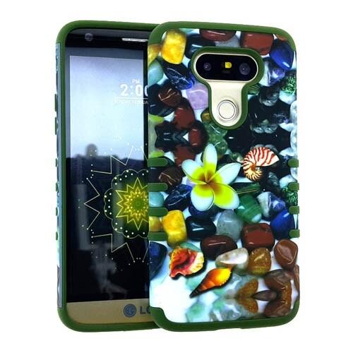 Rocker Series Slim Protector Case for LG G5 (Flower Design)