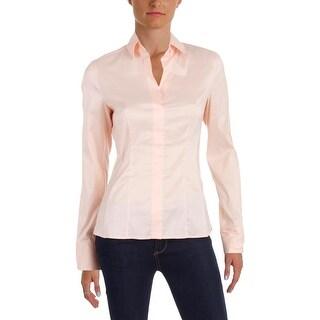 BOSS Hugo Boss Womens Bashina Pullover Top Long Sleeve Stretch