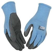 Kinco 1790W-L Warm Grip Women's Gloves, Large, Light Blue/Gray