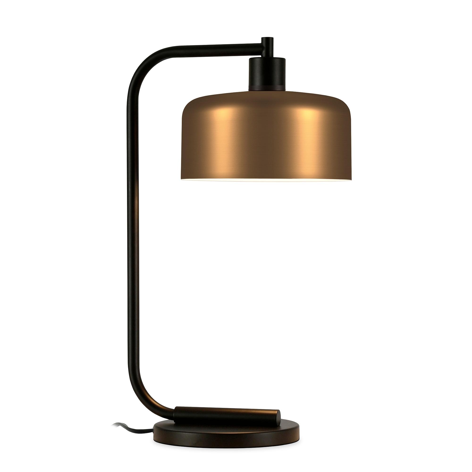 Carson Carrington Saevja Industrial Farmhouse Antique Brass Table Lamp Overstock 23145435 Brass Black Brass