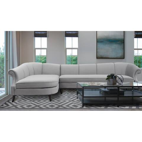 Jennifer Taylor Home Victoria Velvet Sectional Sofa