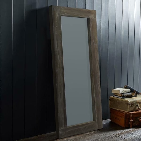 American Farmhouse Full Length Floor Mirror-Hollow Wood Distressed - 58x24. Opens flyout.