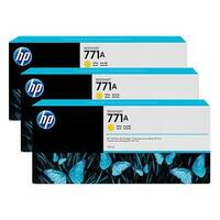 HP 771A 3-pack 775-ml Yellow DesignJet Ink Cartridges (B6Y42A) (Single Pack)