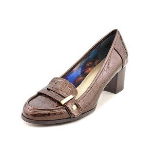 Bandolino Tallow Women Round Toe Synthetic Brown Heels