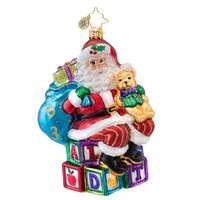 Christopher Radko Glass ABC Santa Claus Christmas Ornament #1017048 - multi