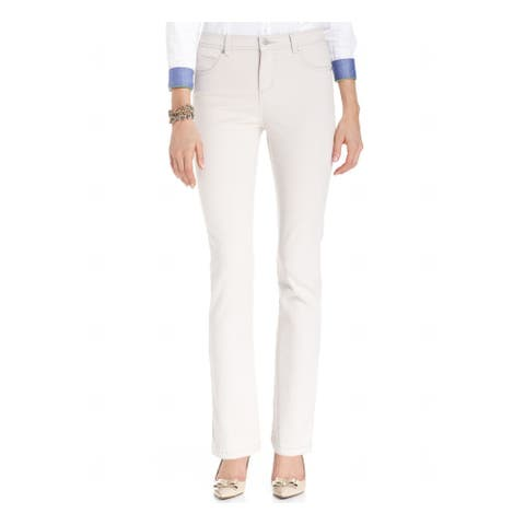 CHARTER CLUB Womens Beige Straight leg Jeans Size 4