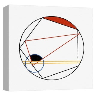 "PTM Images 9-124661  PTM Canvas Collection 12"" x 12"" - ""Mondrian Circle I"" Giclee Patterns and Designs Art Print on Canvas"