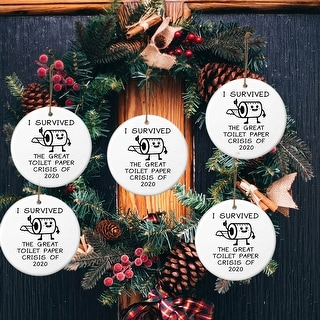 Link to 2020 Christmas Ornaments Toilet Paper Tree Decoration Hilarious Funny - 2.8x2.8x0.39 inch Similar Items in Christmas Decorations