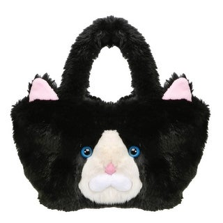 "Women's Tuxedo Cat Purse - Black And White Faux Fur - 9"" X 8"" X 15"" - One size"