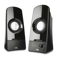 Cyber Acoustics 2.0 Desktop Multimedia Computer Curve Speaker System (Ca-2050)