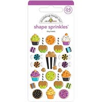 Doodlebug Sprinkles Adhesive Glossy Enamel Shapes-Tiny Treats